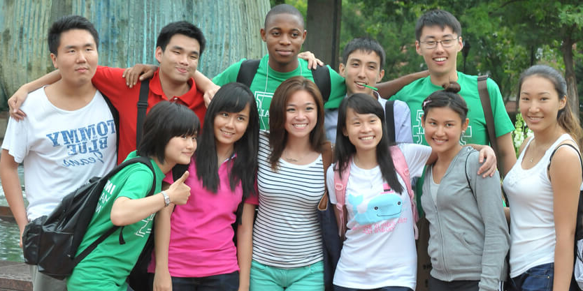 A group of students from around the world